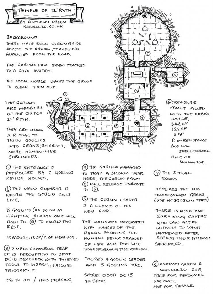 Faerun Calendar.Trying A One Page Dungeon Natural 20